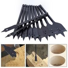 11Pcs 6 32mm Flat Drill Long High carbon Steel Wood Flat Drill Set Woodworking Spade Drill Bits Durable Woodworking Tool Sets