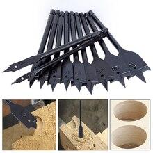 Perceuse plate longue de 6 32mm, ensemble de forets plats pour le bois, en acier à haute teneur en carbone, pour le travail du bois, 11 pièces