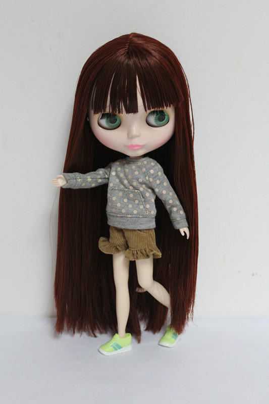 Free Shipping big discount RBL-22DIY Nude Blyth doll birthday gift for girl 4 colour big eyes dolls with beautiful Hair cute toy free shipping big discount rbl 11 15 diy nude blyth doll birthday gift for girl 4 colour big eyes with beautiful hair cute toy