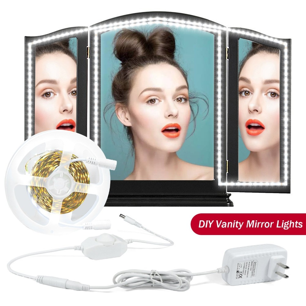 LED Vanity Mirror Lights Strip Kit For Makeup Dressing Table Vanity Set Dimmable Makeup Mirror Light for Bathroom Makeup Table