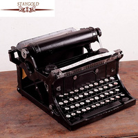 Old Typewriter Do Old Wrought Iron Pure Tin Model Is Decorated By Hand Bar Decorations