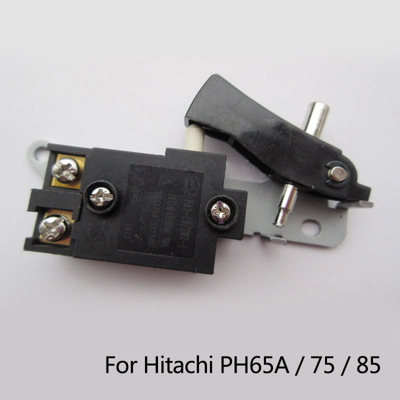 Free Shipping! Replacement Electric hammer Drill Switch for Hitachi 65A 75/85, Wholesale Power Tool Accessories free shipping original electric hammer drill speed control switch for bosch tsb1300 gsb500re power tool accessories