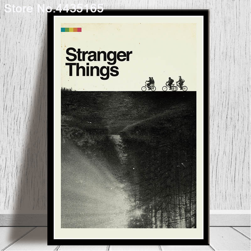 Stranger Things Poster Classic Movie Art Posters And Prints Wall Picture Canvas Painting Modern For Living Room Home Decoration