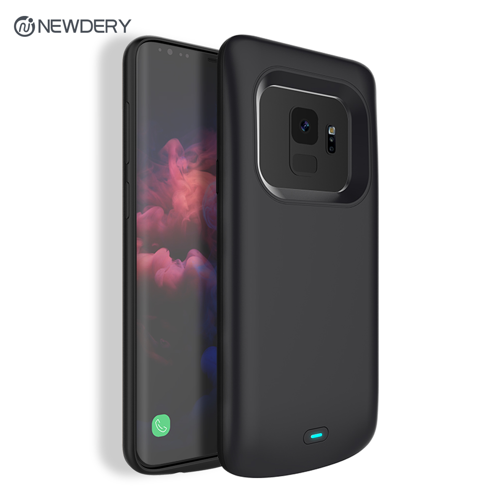 Newdery Newest 4700mAh Slim TPU Rechargeable Charging battery case for Samsung S9 S9+ 5200mAh Power case for Galaxy S9 plus