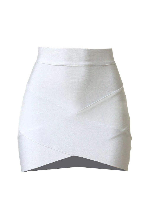 HTB15i 0QFXXXXbdXVXXq6xXFXXXy - Stretch Bodycon Short Sexy Slim Mini Skirt White PTC 163