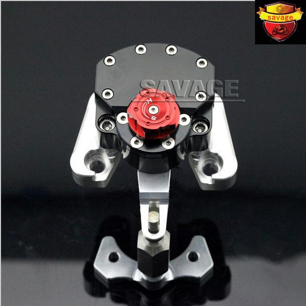 For DUCATI MONSTER 796 2010-2015 Black Motorcycle Reversed Safety Adjustable Steering Damper Stabilizer with Mount Bracket