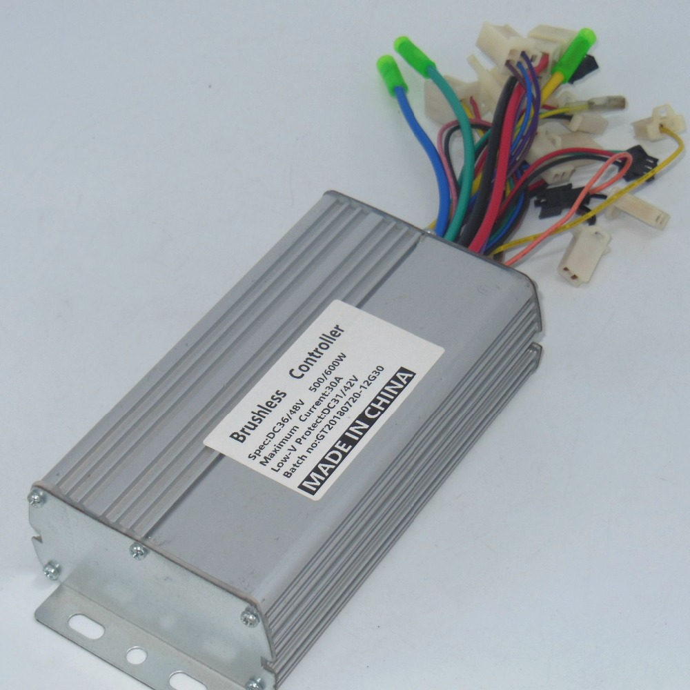 hight resolution of greentime 36v 48v 500w 600w 30amax bldc motor controller electric bike tricycle dual mode