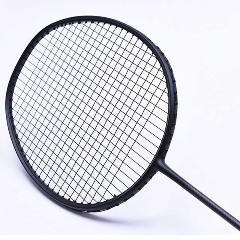LOKI 6U/4U 22-30 LBS VT Series Black Carbon Badminton Racket Super Light Training Badminton Racquet with String Bag