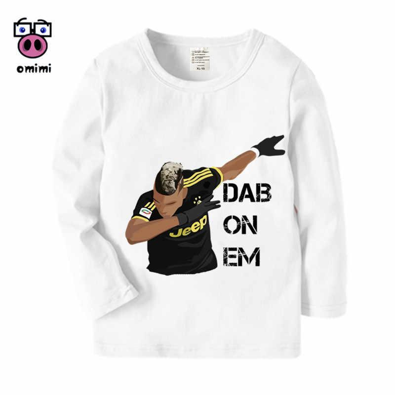 sports shoes 0dca7 bf30d Kid's Long Sleeve Cristiano Ronaldo CR7 Cartoon Printed T Shirt Boys Girls  Autumn Casual Winter Kids T-Shirt