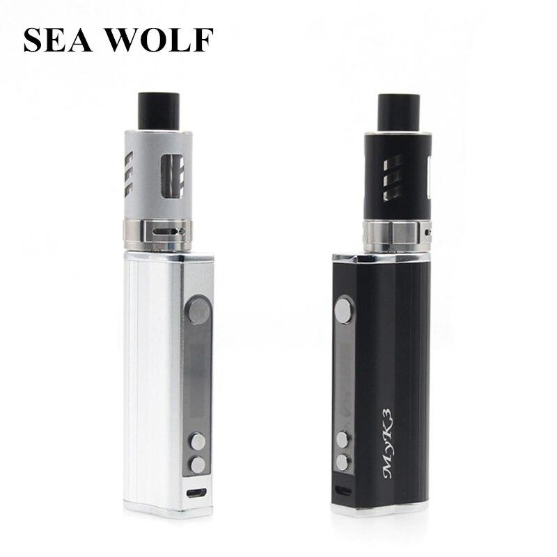 SEA WOLF MYK3 2200mAh Battery 80W Vape LCD Display Box Mod Electronic Cigarette Kits 3ml 0.3ohm RBA Atomizer Vaporizer
