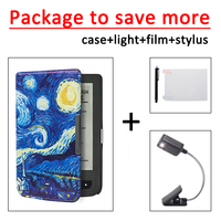 For Pocketbook 625 614 615 624 626 626 Plus PU Leather Cover Case LED Book Light