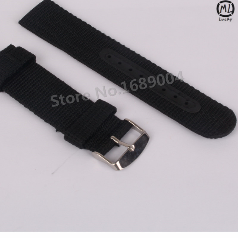Good Quality Waterproof Outdoor Thickness Nylon Watch Strap 24mm 22mm 20mm 18mm Black Green Brown Blue