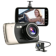4.0 inch Dash Cam HD 140 Degree Wide Angle Night Vision Auto Rearview Video Recorder Dual Lens Double Recording Car DVR 5 car dvr camera camcorder multifunctional driving recorder double lens 5 inch 1080p night vision wide angle auto motion dection