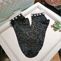 4 Clolors Nuevo Muchacha Mujer Encaje Hecho A Mano de La Perla Calcetines Calcetines Brillantes Nacarado de Lujo Moda Calcetines niñas de Encaje Perla w79