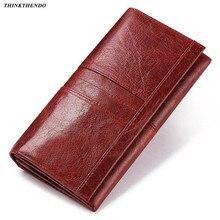 Women Ladies Genuine Leather Wallet Long RFID Purse Card Pho
