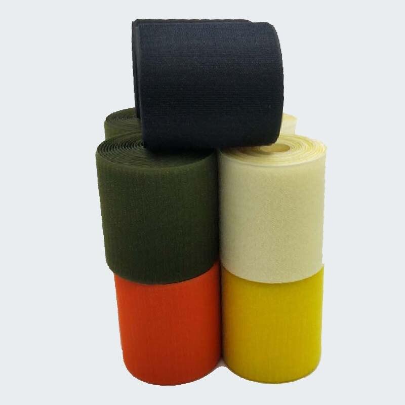 3 meters length 10cm width hook and loop adhesive Fastener Tape ties pink orange