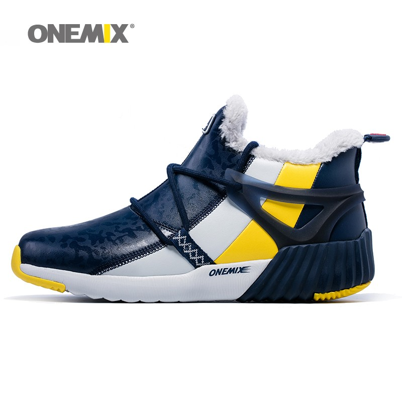 ONEMIX New Winter Men's Boots Warm Wool Sneakers Outdoor Unisex Athletic Sport Shoes Comfortable Running Shoes Sales 18