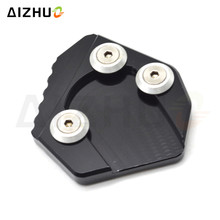 Motorcycle CNC Aluminum Side Stand Enlarge Pad Kickstand Extension Plate For Yamaha YZF R1 1999 2000 2001 2002-2014