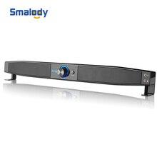 Smalody Soundbar динамики с питанием от USB Домашний кинотеатр 5 Вт стерео сабвуфер с микрофоном и разъемом для наушников