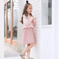Girls winter dress autumn girl long sleeve dress princess ball gown lace dresses for girls clothes