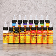 30ml/ bottle tattoo ink set Microblading permanent makeup art pigment 16 PCS cosmetic tattoo paint for eyebrow eyeliner lip body