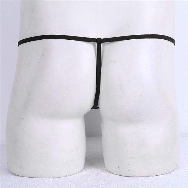 Нижнее белье MSemis, сексуальное нижнее белье для мужчин, Трусы-стринги с прорезями для пениса