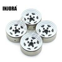 4PCS RC Crawler 1 10 White 1 9 Inch BEADLOCK Metal Wheel Rim For 1 10