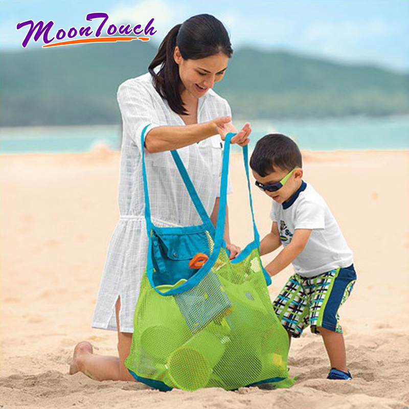 Children Sand Away Protable Mesh Bag Kids Beach Toys Clothes Towel Bag Baby Toy Storage Sundries