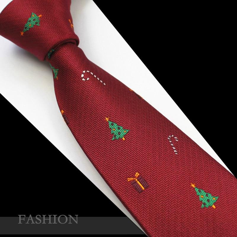 RBOCOTT Red Christmas Tie 7cm Snowman Ties For Christmas Day Men's Blue & Green Christmas Tree Necktie Santa Claus Neck Tie Slim