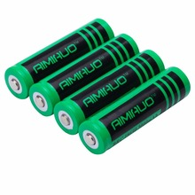 AIMIHUO 18650 Battery 3000mAh 3.7V Li-ion Rechargeable Battery for Flashlight Headlamp Lamp