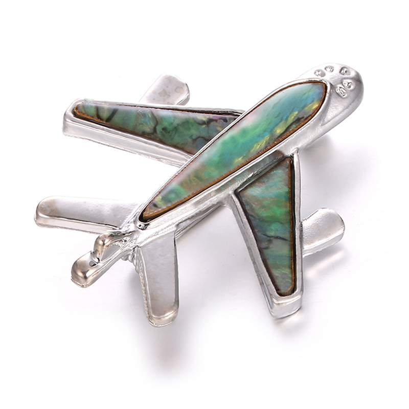 Alloy Airplane Brooch Pins Plane Luxury Brand Brooches For Women Men Costumes Aircraft Brooch image