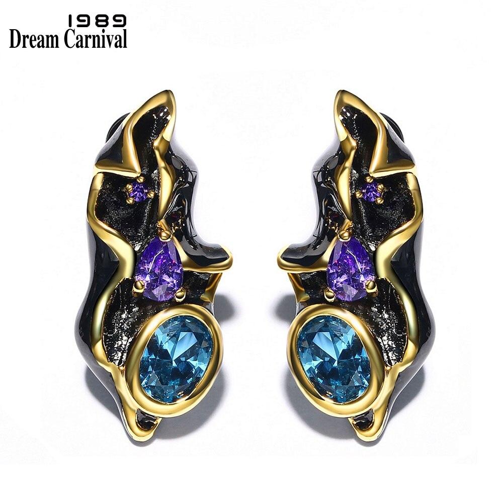 DreamCarnival 1989 Fantastic Blue CZ Earrings