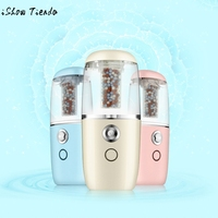 Portable Vehicle Mounted Facial Body Mist Sprayer Nebulizer Steamer Humidifier Face Skin Care Mini USB Anion