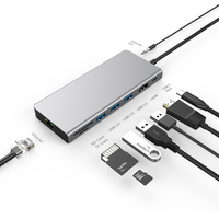 USB C 3.1 Type C HUB USB C to HDMI 4K Gigabit Ethernet Thunderbolt 3 Adapter For MacBook Pro Huawei Mate 20 P20 Samsung S9 S8
