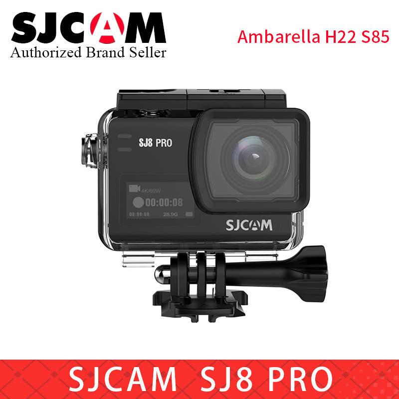 SJCAM SJ8 Pro yi 4 K 60fps caméra d'action étanche Anti-secousse double écran tactile WiFi télécommande sport DV pro 4 k mini Camara