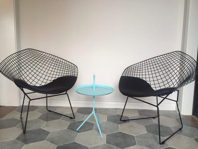 moderne en mtal fil dacier diamant chaise harry diamant chaise de loisirs diamant en - Chaise Bertoia
