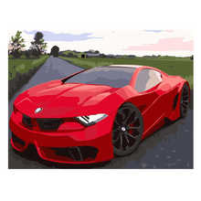 Diy Canvas Painting For Home Decoration,Painting By Number 40x50cm,Sport Car Paint Kits