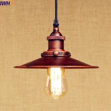 IWHD lámpara colgante clásica rústica LED Luz de Edison estilo Loft iluminación Industrial Fxiture luces colgantes Lampen American