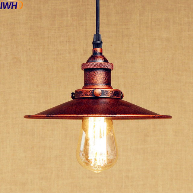 Us 26 85 6 Off Iwhd Rustic Vintage Pendant Lamp Led Edison Light Style Loft Industrial Lighting Fxiture Hanging Lights Lampen American In Pendant