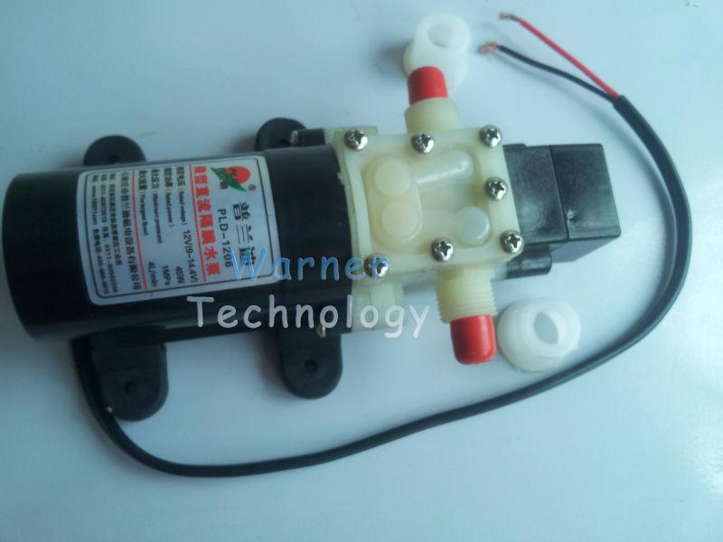 6pcs/ Lot 12V Mirco diaphragm water pump Mini size Low noise Corrosion proof Maintenance-free 50W Flow 4L/ Min Suction lift 2m