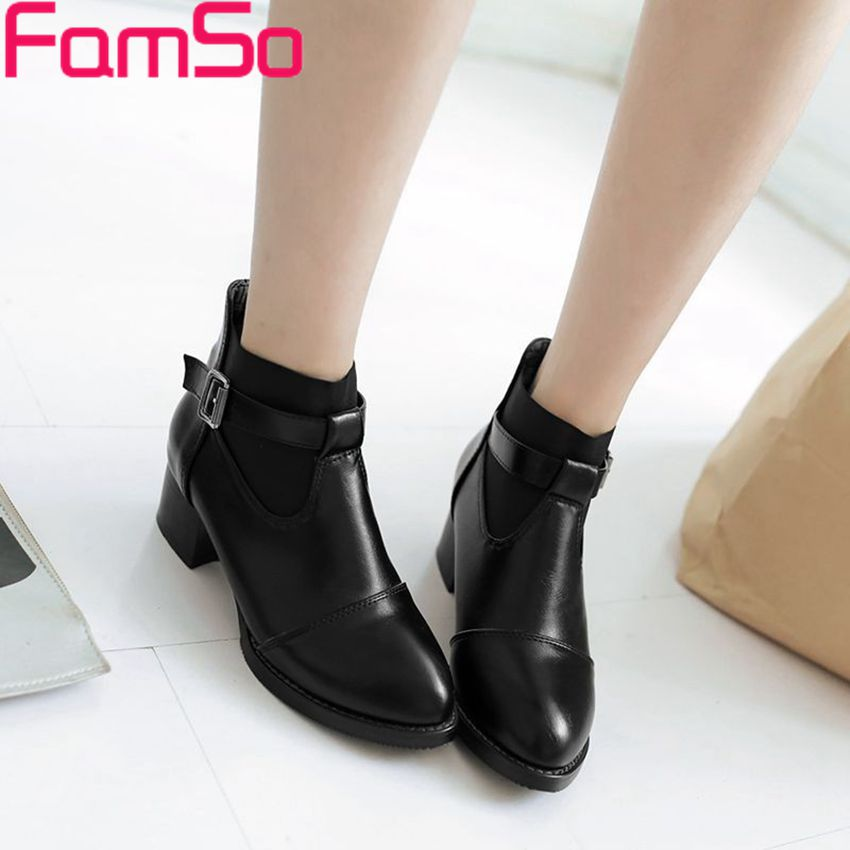 Plus Size34 42 2016 New Sexy font b Women b font Riding boots Black Spring Buckle