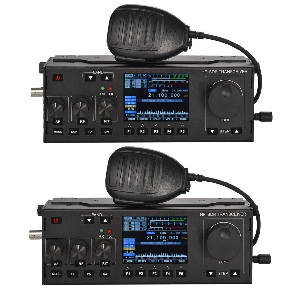 2QTY Recent RS-918 SSB HF SDR Transceiver 15W Power Mobile Radio RX:0.5-30MHz TX:All Ham Bands Multifunctional Instrument