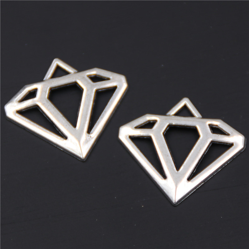 10pcs Ancient silver new geometric series necklace earrings DIY charm jewelery alloy pendant findings A423