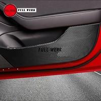 Carbon Fiber Vinyl Car Door Anti Kick Sticker Protective Cover Decal Protector for Tesla Model 3 Accessories 1 Set