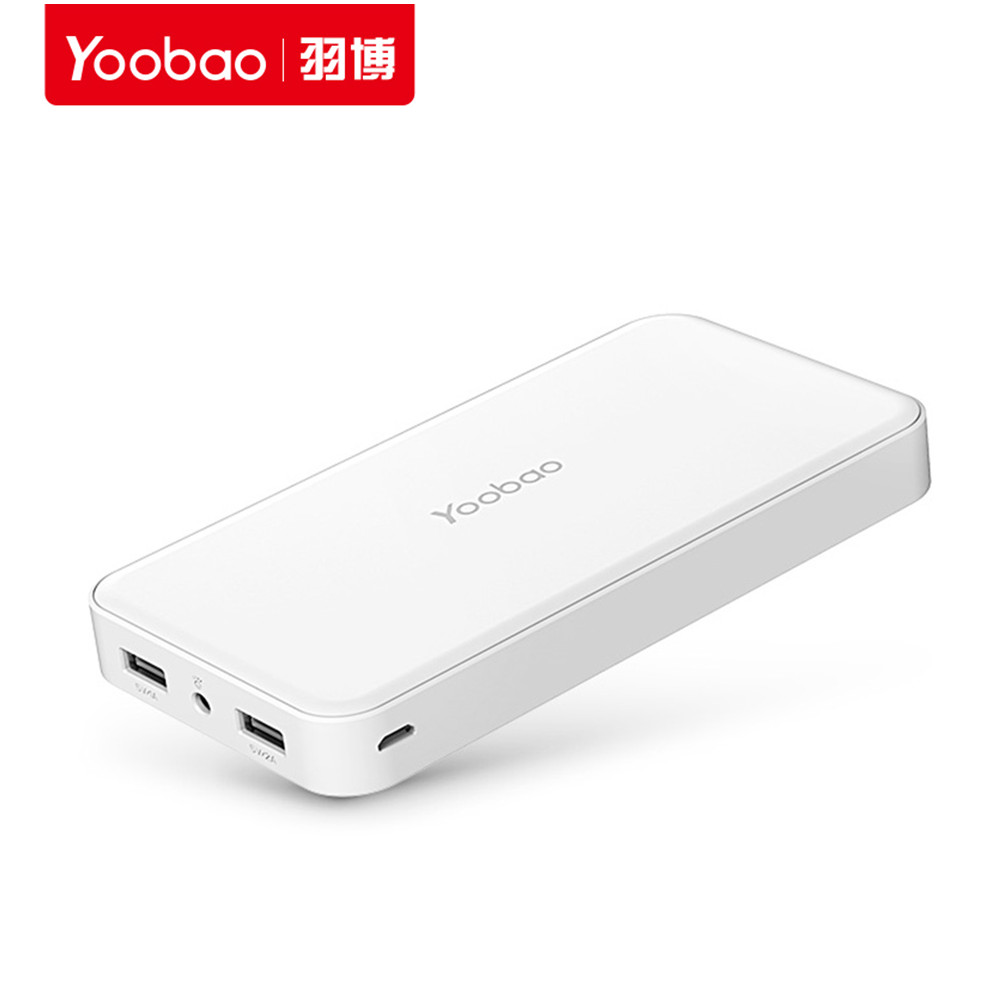 Caliente Yoobao 20000 mAh YB-S8 Plus Universal LED Portátil de Doble Salida USB