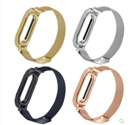 Milanese loop Metal Wrist band For Xiaomi Miband2 3 Wrist bands Bracelet Wrist Straps Stainless Wantchband Mi Band 3 2Milanese loop Metal Wrist band For Xiaomi Miband2 3 Wrist bands Bracelet Wrist Straps Stainless Wantchband Mi Band 3 2
