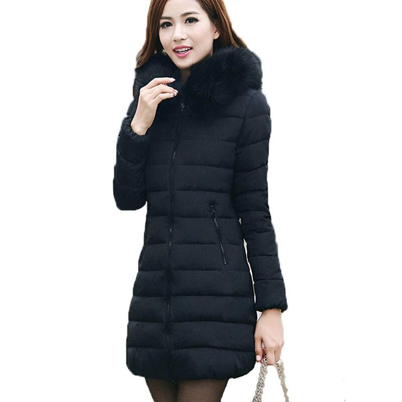 2019 dámská zimní bunda s kapucí zateplená dámská plus velikost 5XL 6XL kabát dámský svrchní oděv parka dlouhý polstrovaný chaqueta feminina