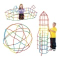 1SET 4D Space plastic tube Building Blocks insert creative toys birthday gift