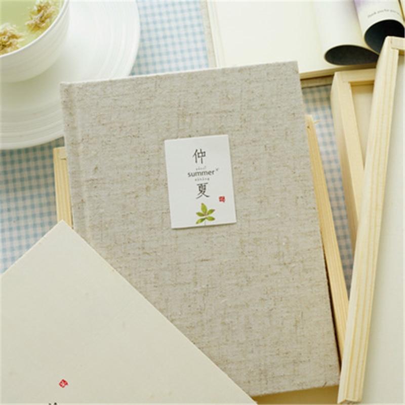 Creative midsummer Notebook Wooden boxed Beautiful illustrations Canvas Diary Cute Notebook Notepad Korea School Supplies Memos midsummer magic