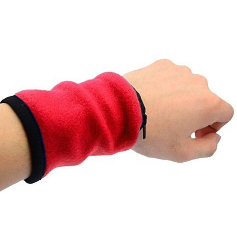 Unisex Wrist Wallet Pouch Band Fleece Zipper Running Travel Cycling Safe Sport Wrist Band Bag Coin Key Storage